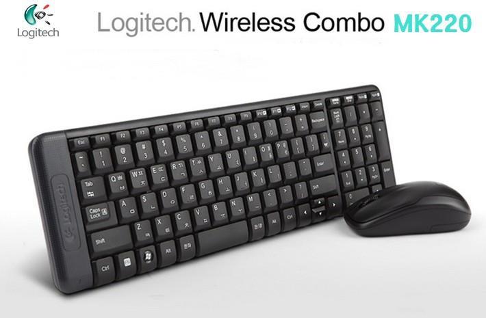 Bộ bàn phím và chuột Logitech Wireless Combo MK220