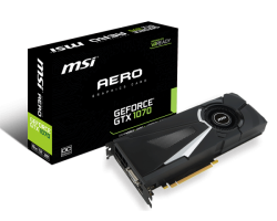 VGA MSI GeForce GTX 1070 AERO 8G OC