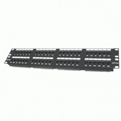 "Patch panel Dintek 48 Port CAT.5e 2U 19"" rackmount Krone type"