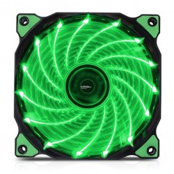 Fan Case Segotep polar wind 12cm - Fan 15 led GREEN