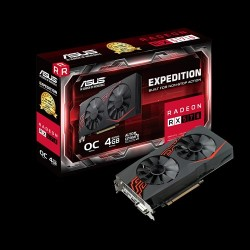 Card màn hình ASUS Expedition Radeon RX 570 OC edition 4GB GDDR5 (EX-RX570-O4G)