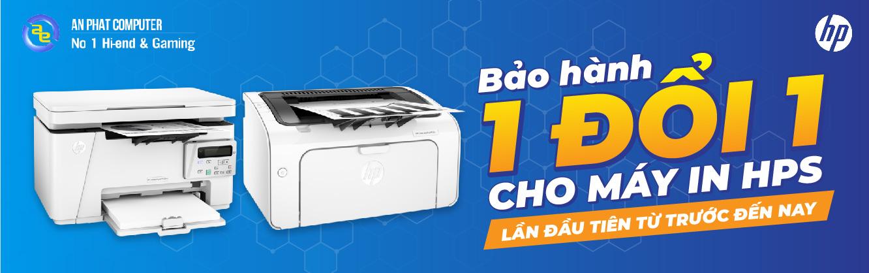 Bảo hành 1 đổi 1 với máy in HP