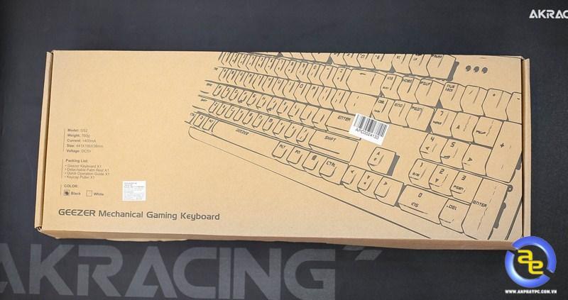 hộp bàn phím Geezer GS2 RGB