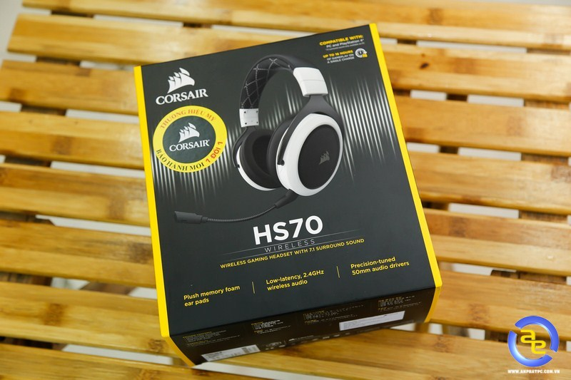 hộp Corsair HS70 Wireless