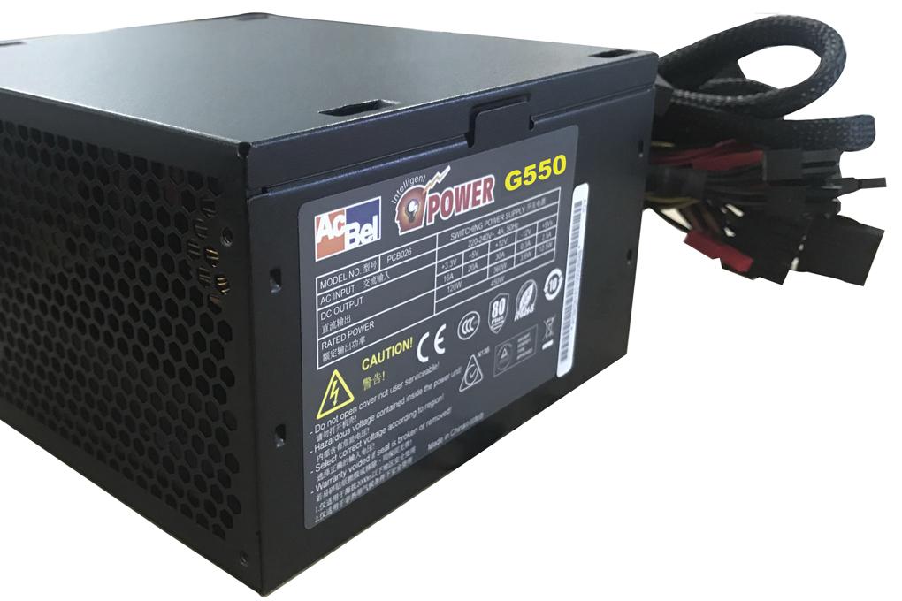 Nguồn máy tính AcBel iPower G550 - 550W 80 Plus Gaming PSU