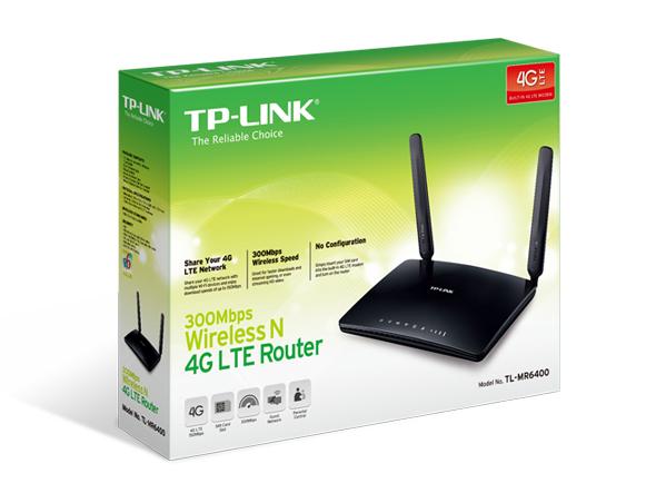 Router TP-Link TL-MR6400 không dây chuẩn N tốc độ 300Mbps 4G LTE