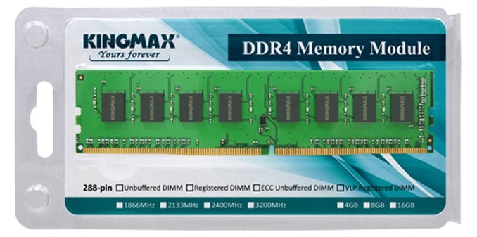 Image result for RAM KINGMAX 1x8GB DDR4 2400MHz