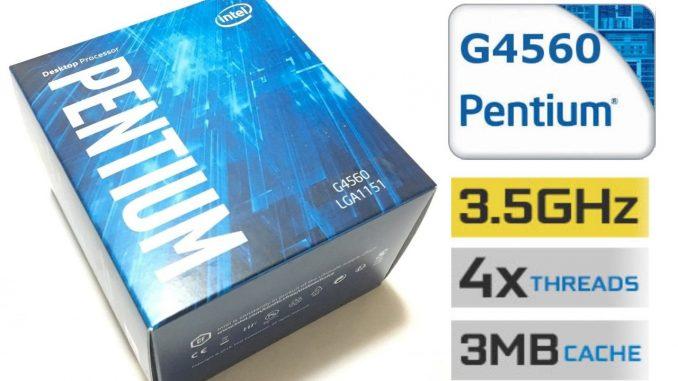 CPU Intel Pentium G4560 3.5 GHz / 3MB / HD 600 Series Graphics / Socket 1151 (Kabylake)