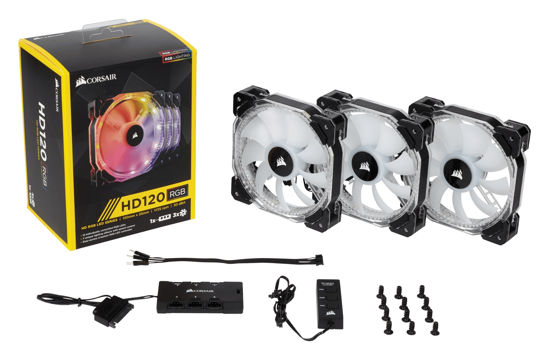 Fan Case Corsair HD 120 RGB LED - Hộp 3 FAN
