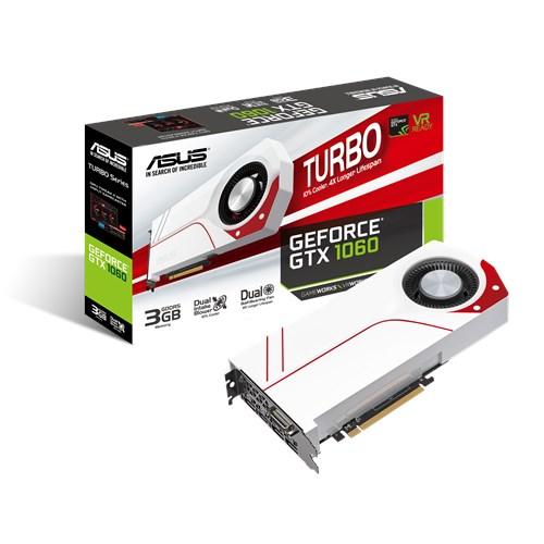 Kết quả hình ảnh cho VGa Asus GTX1060 3G/192BIT/D5 TURBO WHITE