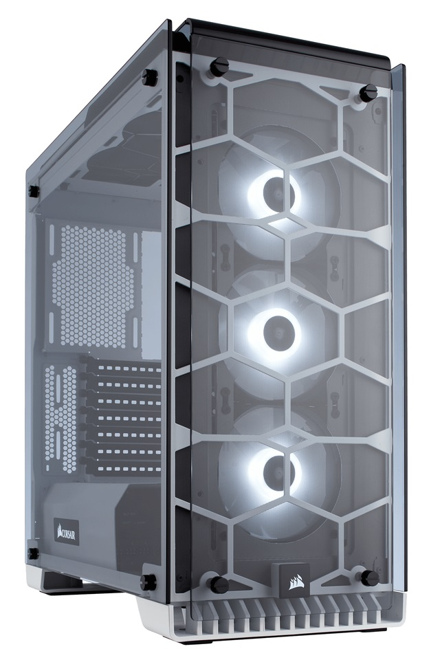 vỏ case corsair 570X RGB ATX Mid-Tower Case  - White