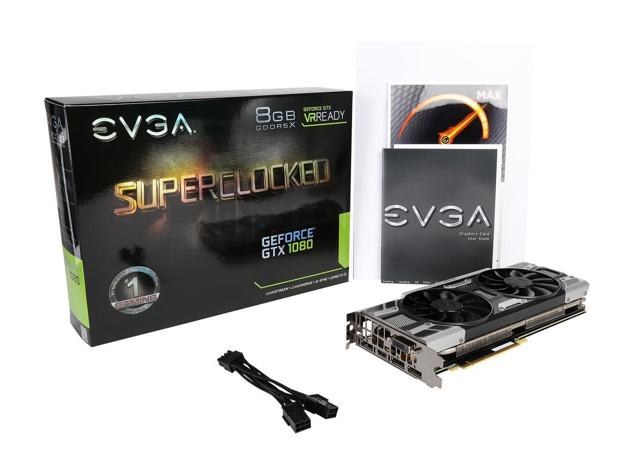 VGA EVGA Geforce GTX 1080 SC Gaming 8GB ACX 3 0 (08G-P4-6183)