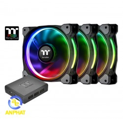Fan Case Thermaltake Riing plus 12 led RGB ( bộ 3 fan)
