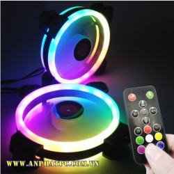 Fan case COOLMAN SUNSHINE RGB - 2 vòng riing (pack 3 fan)