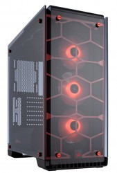 vỏ case corsair 570X RGB ATX Mid-Tower Case  - RED