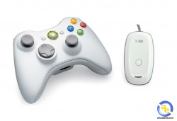 Tay bấm game Xbox360 Wireless + Receiver (không dây) for PC White