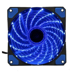 Fan case Coolman 12cm 15 led BLUE