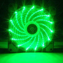 Fan case Coolman 12cm 15 led GREEN