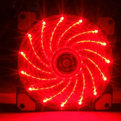 Fan case Coolman 12cm 15 led RED
