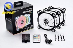 Fan lian-li bora lite 120 RGB ( bộ 3 fan) black