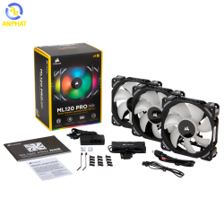 Fan Corsair ML120 PRO RGB 3 Fan Pack with Lighting Node PRO CO-9050076-WW