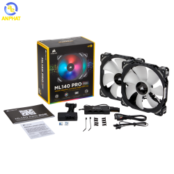 Fan Corsair ML140 PRO RGB Twin Fan Pack with Lighting Node PRO CO-9050078-WW