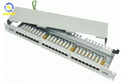 Dintek Chống nhiễu Patch panel 24 Port, CAT.5e