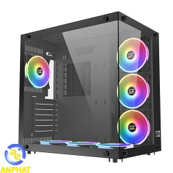 Vỏ case xigmatek AQUARIUS PLUS - BLACK- EN43330