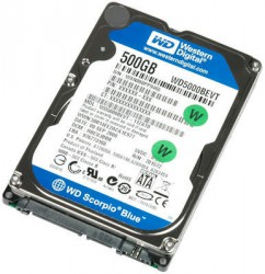 Ổ cứng Laptop Western Digital Scorpio Blue 500GB 5400rpm SATA3 2.5""