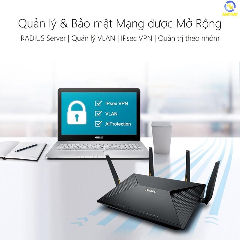 Router Wifi ASUS BRT-AC828 (Chuẩn Doanh Nghiệp) AC2600 MU