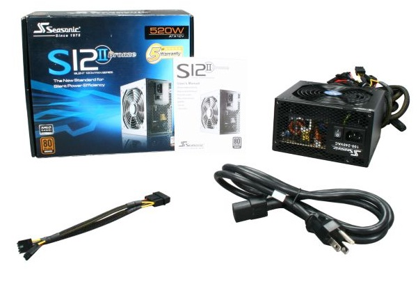 Nguồn máy tính Seasonic S12II 520W Active PFC FDB fan F3 - 80Plus Bronze
